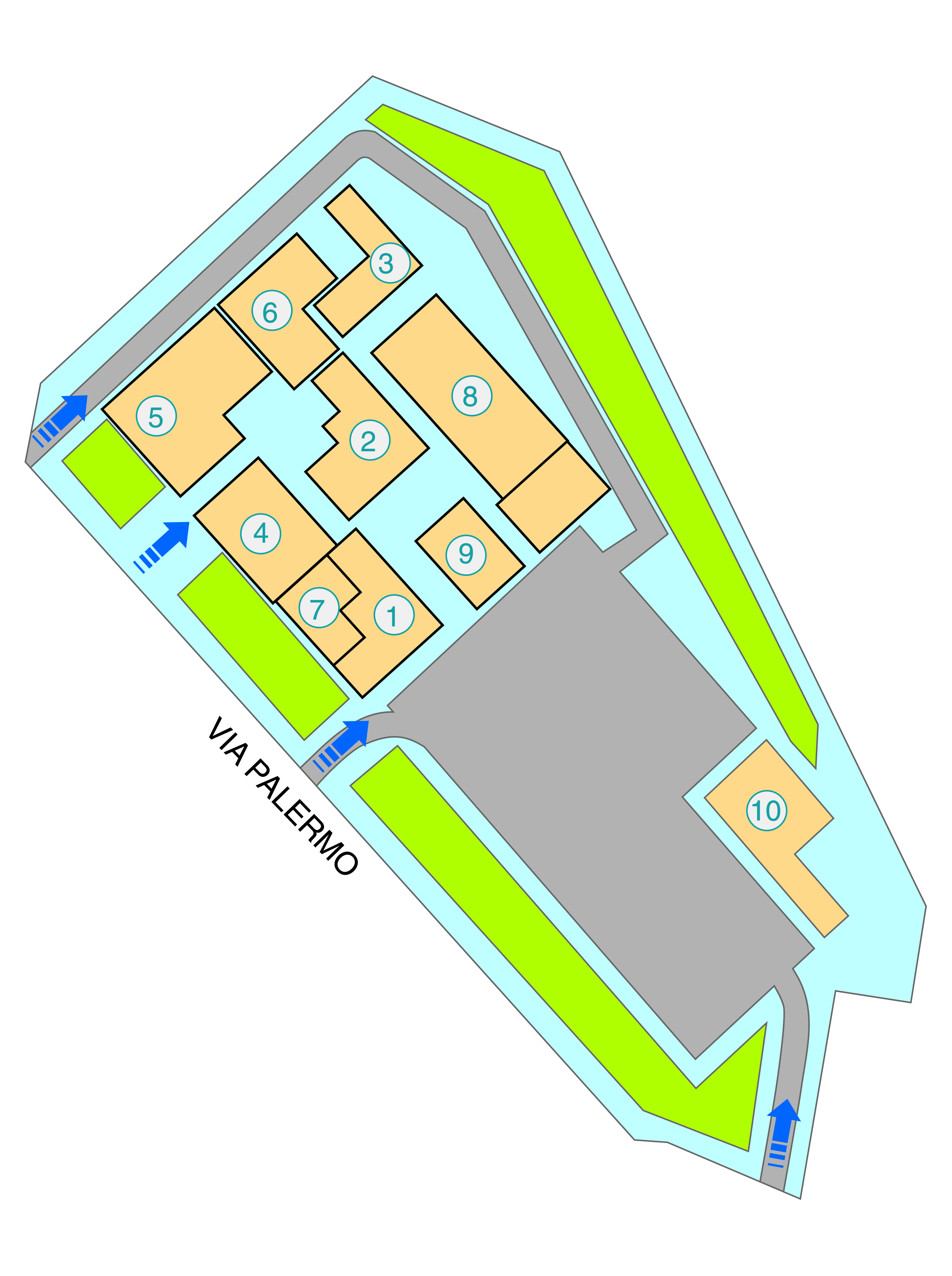 Mappa dell'Ospedale